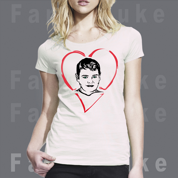 Design-Portrait-Unikat_FancyDuke_UNIK011-girl-t-shirt-schwarz